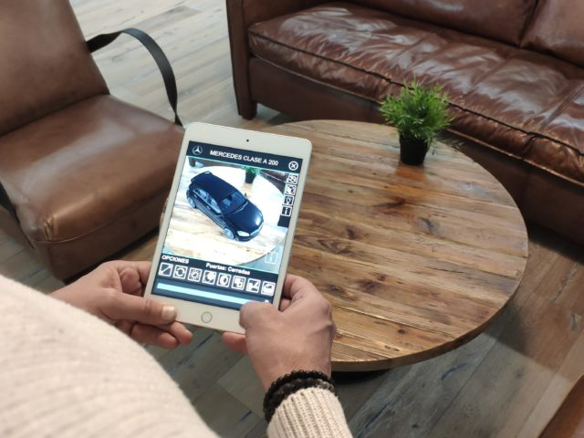 Realidad Aumentada para Mercedes. Retail AR