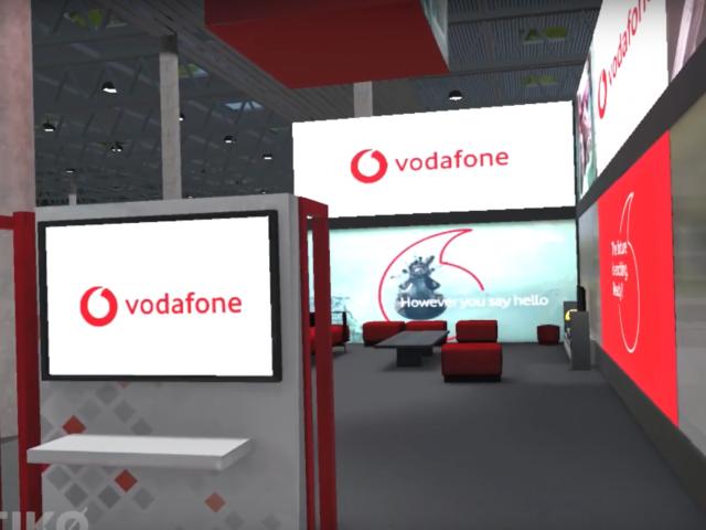 Diseño stand vodafone en VR
